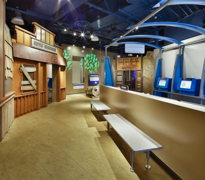 An exhibit at the Discovery Children's Museum, designed by LGA Architecture.