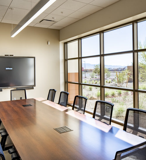 A conference room in the Clark County Public Works multi-use facility in Southwest Las Vegas.