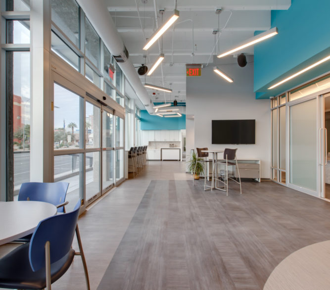 The interior design of Turntable Health, by LGA Architecture.