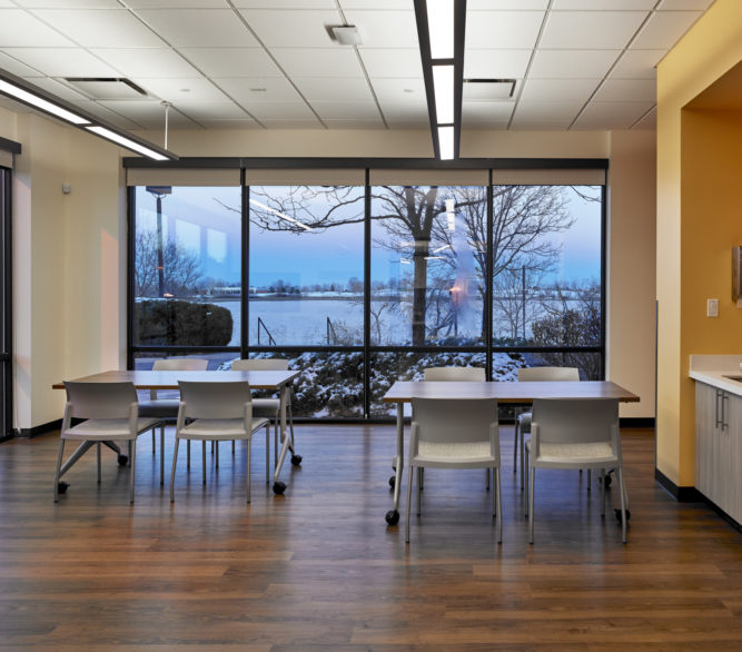 A group room at an Iora Health Clinic, renovated and designed by LGA Architecture