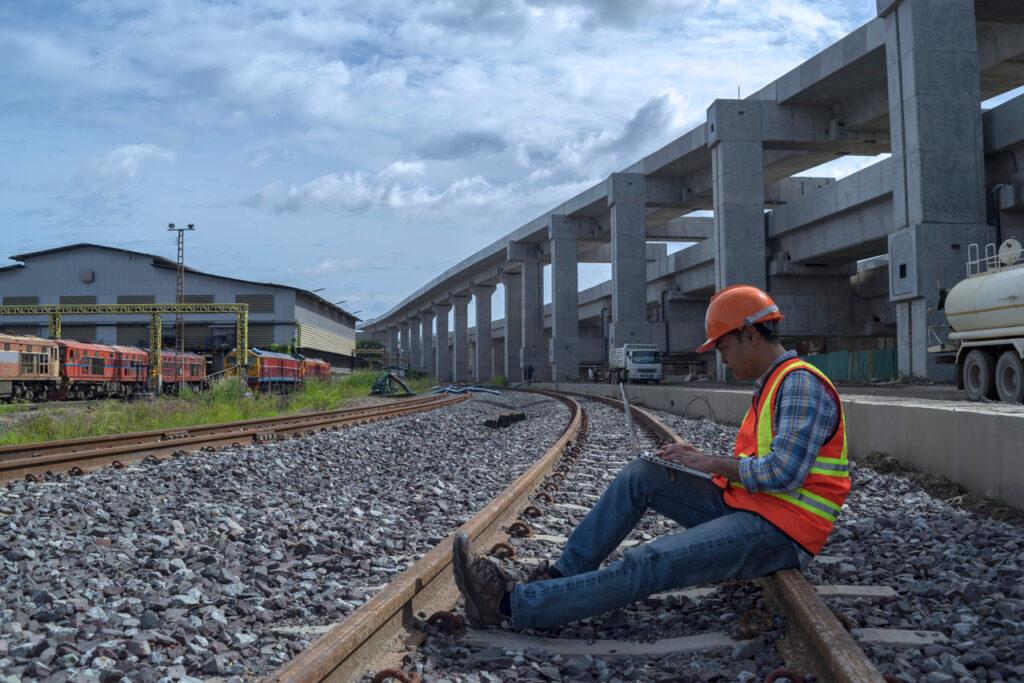 Inspector Checking Third Rail